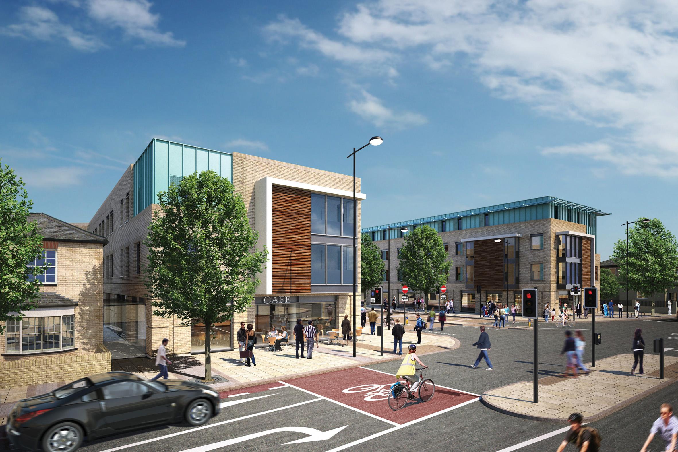Retail & Residential CGI example
