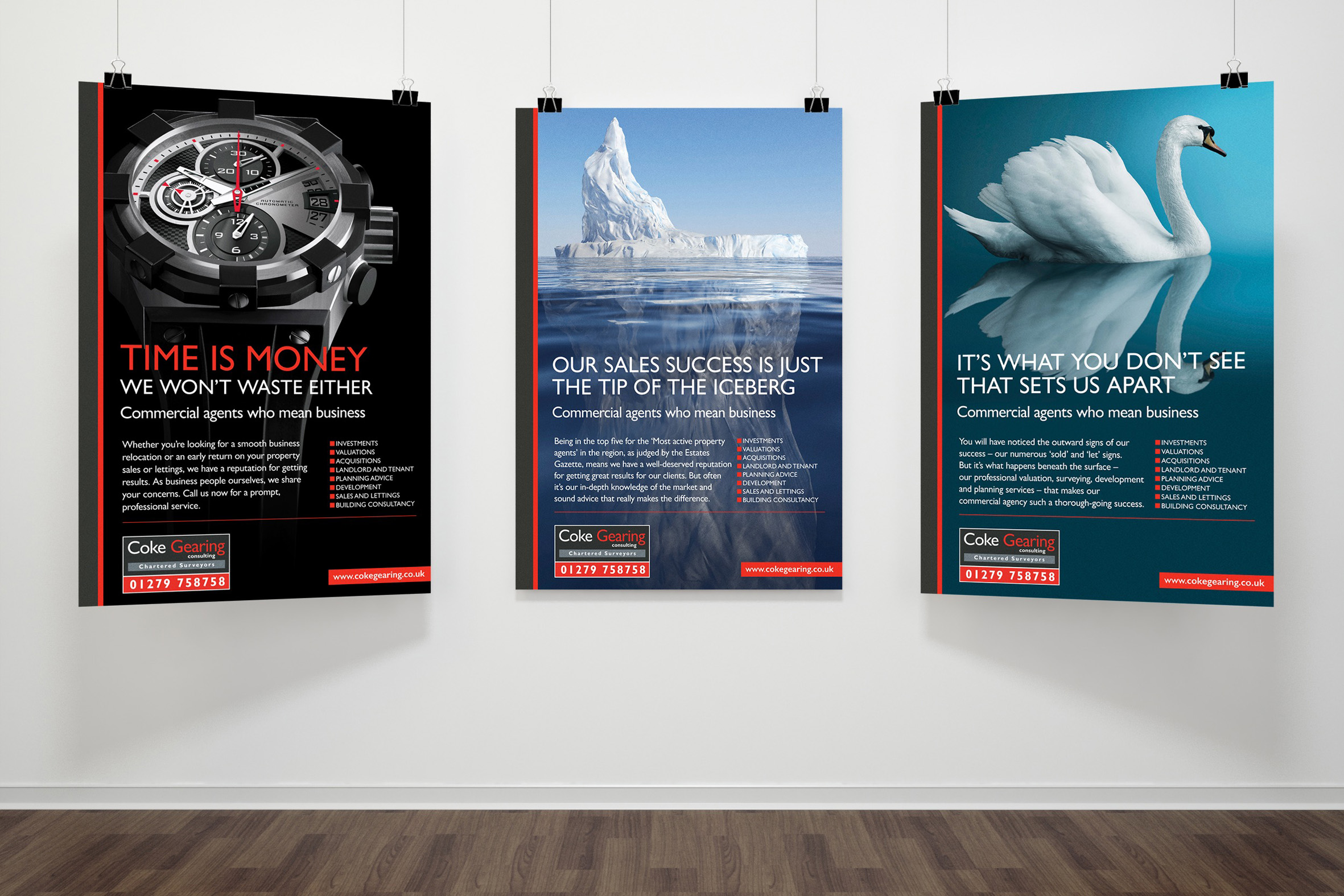 Commercial Property Agents, Coke Gearing, Newspaper and Large Format Advertising