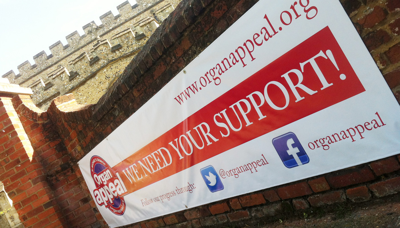 Organ Appeal - Banner