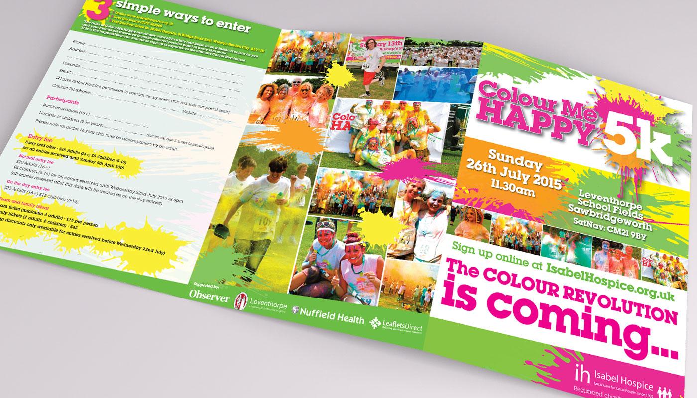 Colour Me Happy 5K - Leaflet