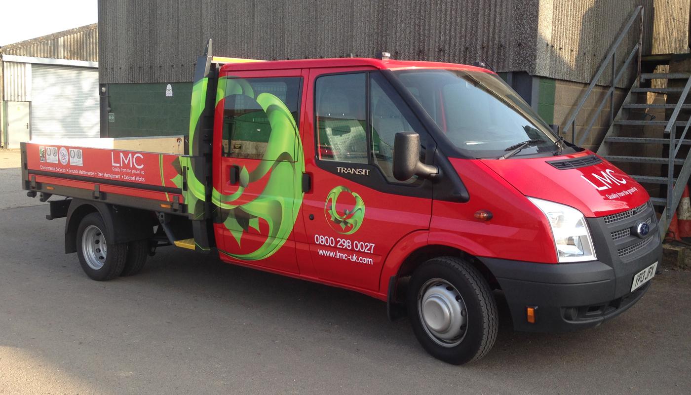 LMC Landscaping Van