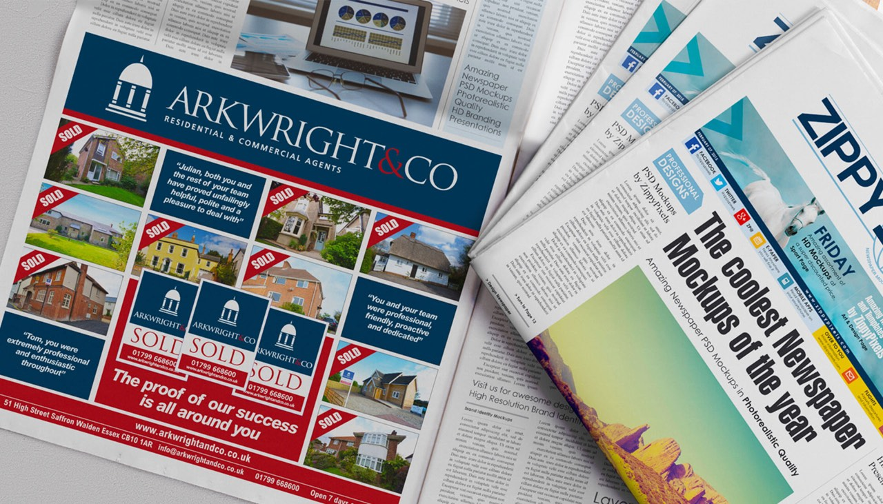 Arkwright & Co Newspaper Advertising