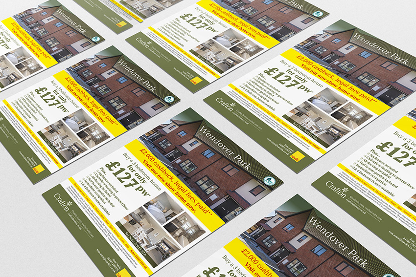 Promotional leaflet with specific selling message
