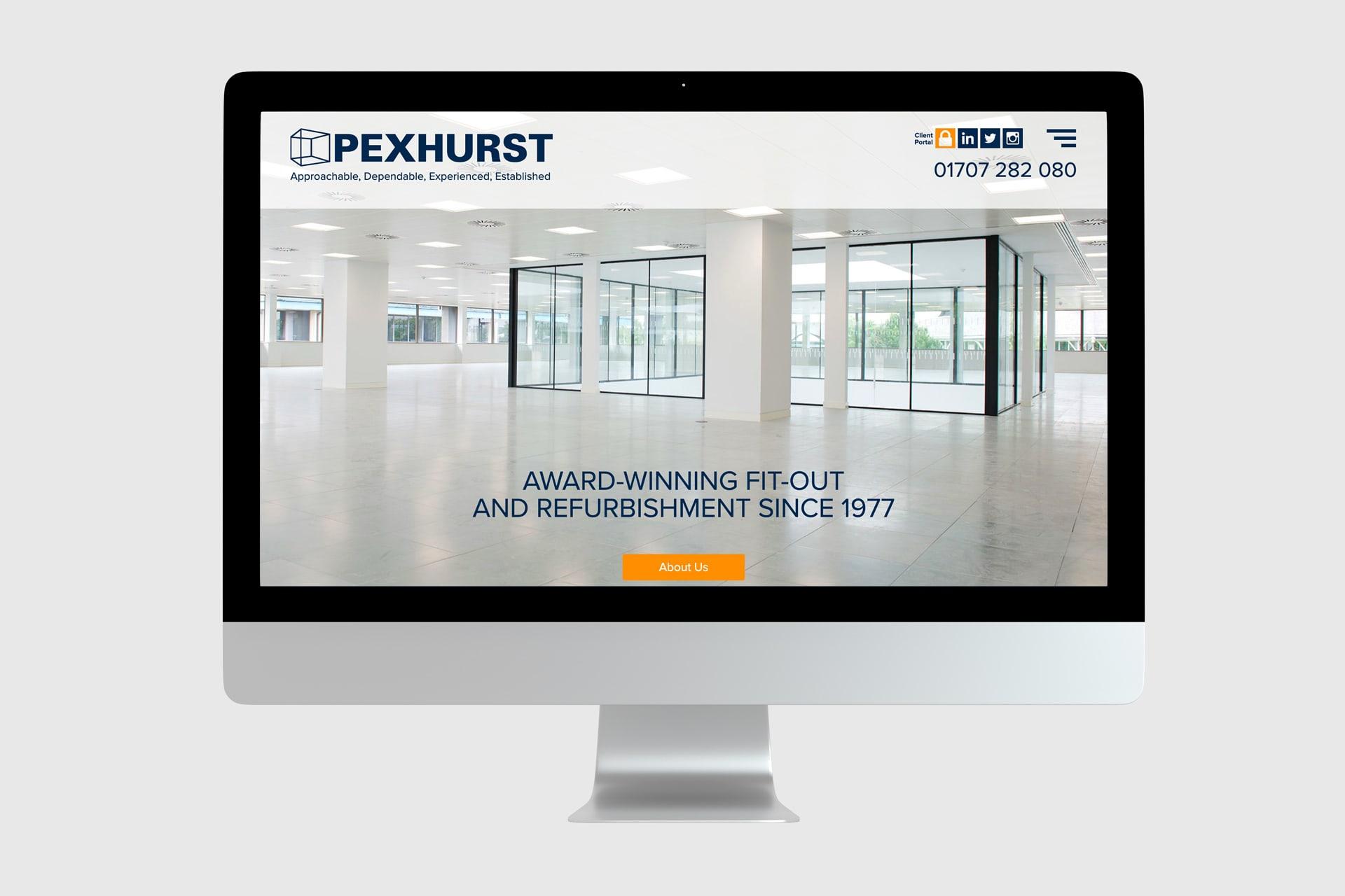 Pexhurst New Website Homepage